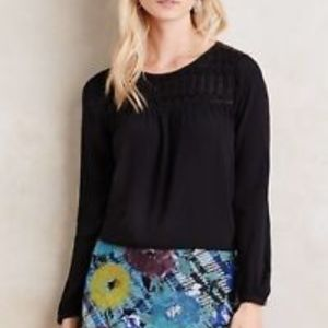 Meadow Rue Anthropologie dotted Swiss Vivie top XS